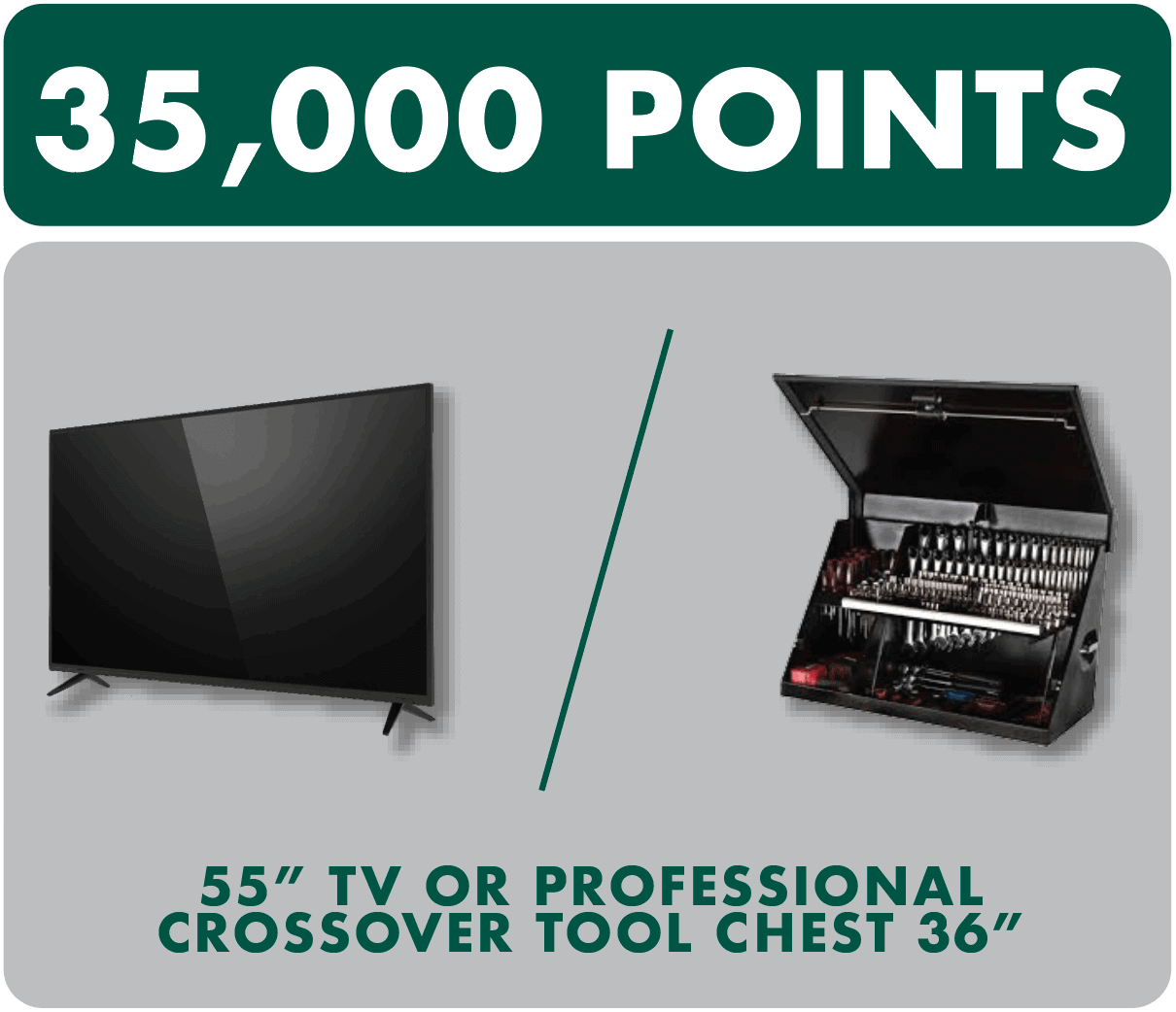 tv or tool chest prize