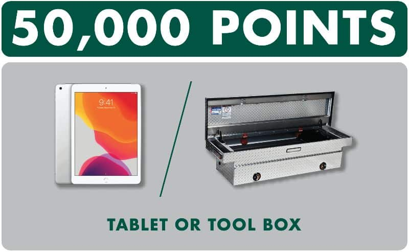 tablet or tool box prize
